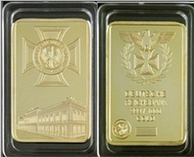 2013 best selling design Free Shipping Wholesale 20 Pcs/Lot  high quality Gold Plated German Empire Bank Building Bullion Bar