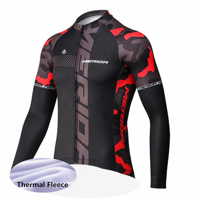2018 Tops Custom Merida Winter Thermal Fleece warmer jacket bike full  sleeve CYCLING jersey race Climbing fcc781b65