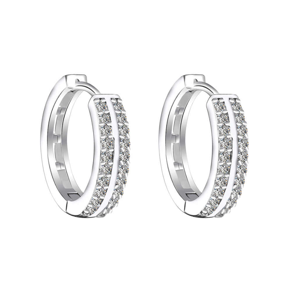 cc3c08333a Fashion Small Hoop Earring for Women Gold Silver Princess Crystal ...