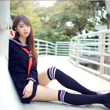 Japanese Anime Hell Girl Enma Ai Cosplay Costume School Uniforms Cute Girl Sailor Suit JK Student Top+Dress+Tie Clothing 3X Sets