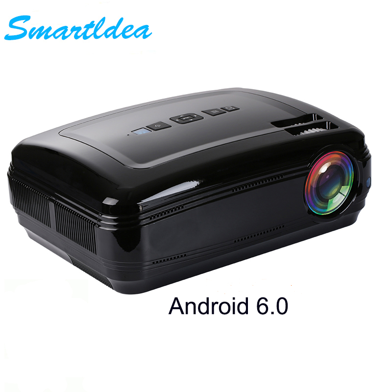 Smartldea android 6 0 led tv projector bluetooth 4 0 hdmi for Bluetooth hdmi projector