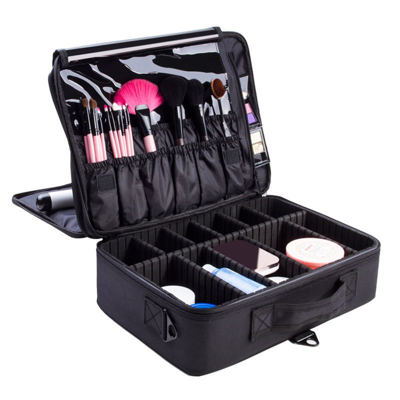 New Makeup Bag Professional Cosmetic Bag Waterproof Women Makeup Case Make Up Organizer Large Capacity Storage Travel Pouch Bag