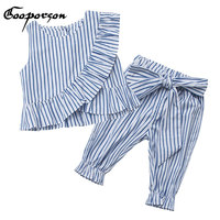 Girls Clothes Toddler Girls Clothing Sets Striped Baby Girls Kids Clothes Children Clothing T Shirt Pants