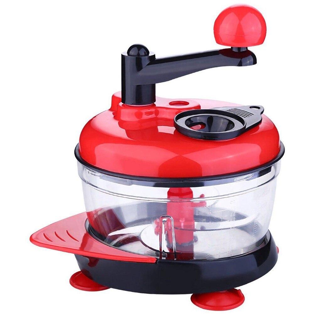 Multi-Function Manual Food Processor Meat Grinder Vegetable Chopper Shredder Cutter Egg Blender High-capacity Kitchen Fruit