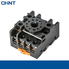 CHINT CZF11A-E 11 Foot JTC JQX Base Small-sized Electromagnetism Relay Socket xin ling hhj1 jdm1 48 11 n standard digital counting relay 11 foot with base