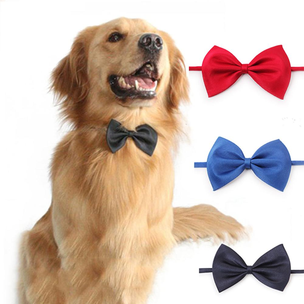 8 Colors Pet Dog Cat Bow Tie Adjustable Dog Necktie Pet Accessories For Dogs & Cats  Solid Color Puppy Kitten Bow Tie