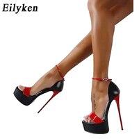 Eilyken/женские туфли-лодочки; летние женские босоножки; пикантные туфли-лодочки; женские Вечерние туфли на каблуке 16 см; свадебные туфли на рем...