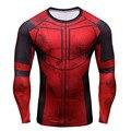 Divertido Deadpool Display 3D Impressos Camisetas Homens Cosplay Traje Camisa De Manga Longa De Compressão Ajuste Topos de Vestuário Masculino