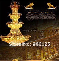 54 Tall Empire Foyer Crystal Chandelier Light Fixture W 53 Lights Gold Finish Guaranteed 100 Free