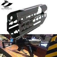 Gun Accessory Free Float M LOK Handguard Picatinny Rail Slim Style 2 Piece Drop In for UMP Rifle Scope Mount
