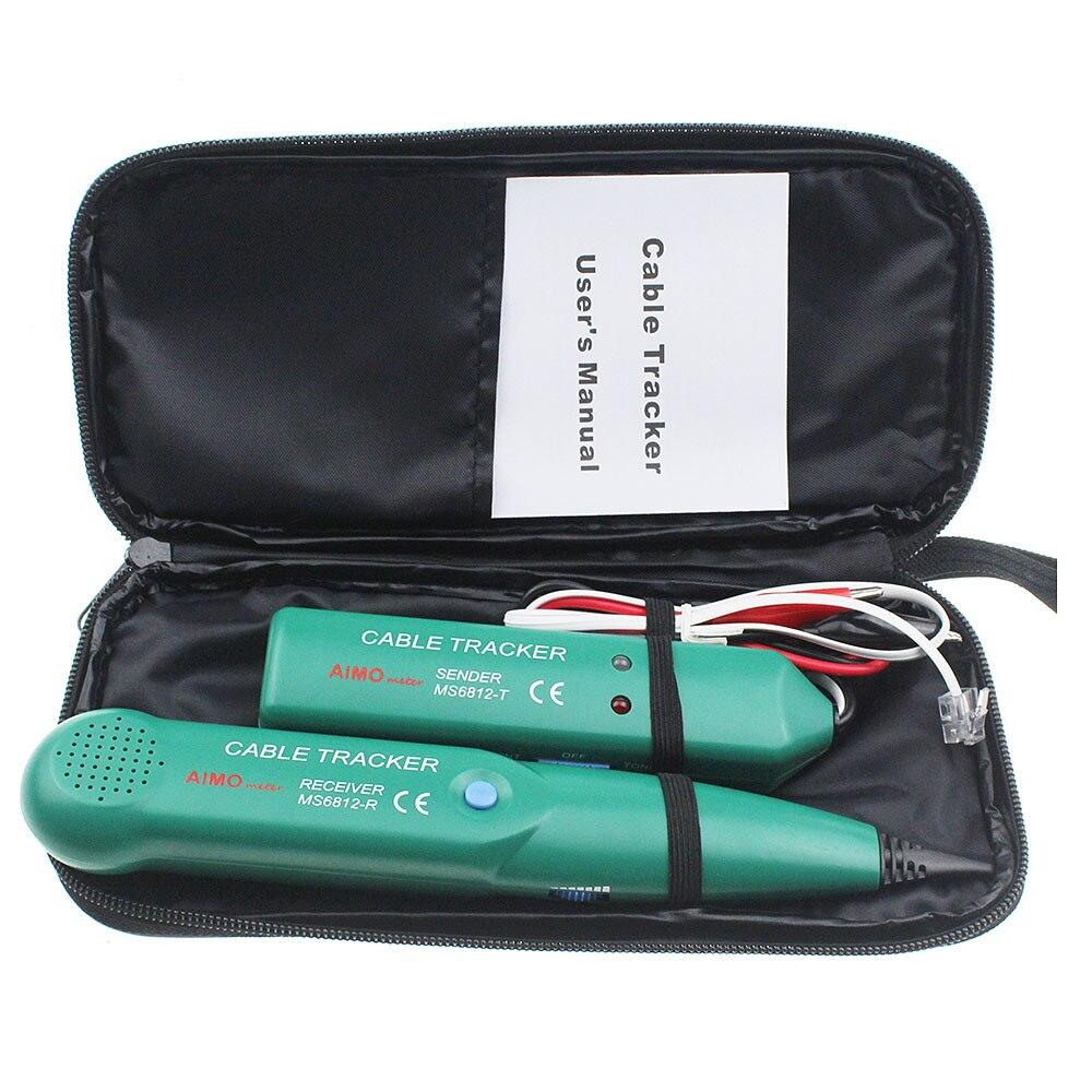 Professionnel MS6812 LAN Testeur de Câble Réseau Pour UTP STP Cat5 Cat5E Cat6 Cat6E RJ45 RJ11 Téléphone Fil Tracker Traceur