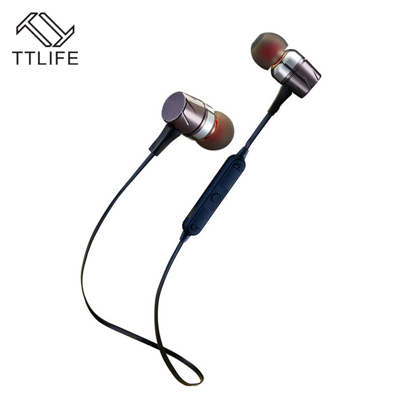 TTLIFE Wireless Bluetooth 4.0 Earphone Stereo Sweatproof Earbuds Magnetic Design Headset With HD Mic Noise Reduction For xiaomi ttlife bluetooth earphone