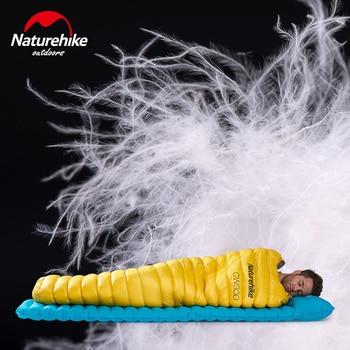 Naturehike Outdoor Goose Down Mummy Sleeping Bag Camping Hiking Climbing Ultralight Down Sleeping Gear Bed NH18S300-D 2