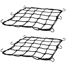 2 упаковки эластичных грузовых сетей для велосипеда мотоцикла багажные сети для шлема с 12 металлическими крючками черного цвета