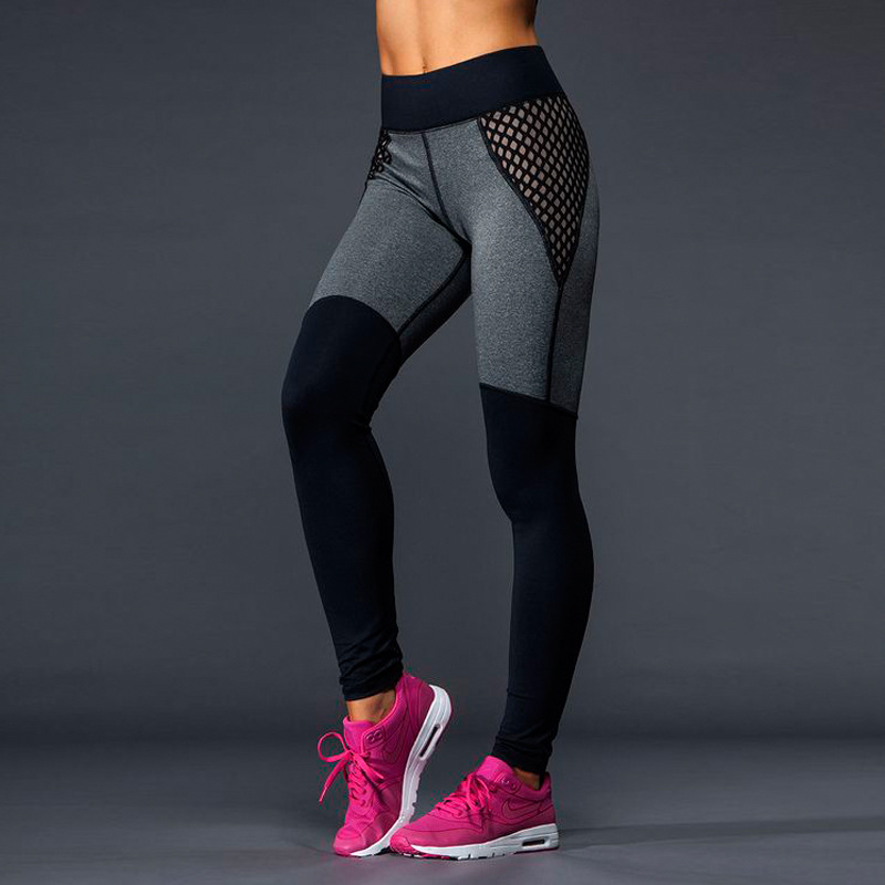 252882b0e7e4d Sports Black Women Mesh Running Pants Hot Gym And Yoga Tights Professional Female  Fitness Legging-in Yoga Pants from Sports & Entertainment on ...