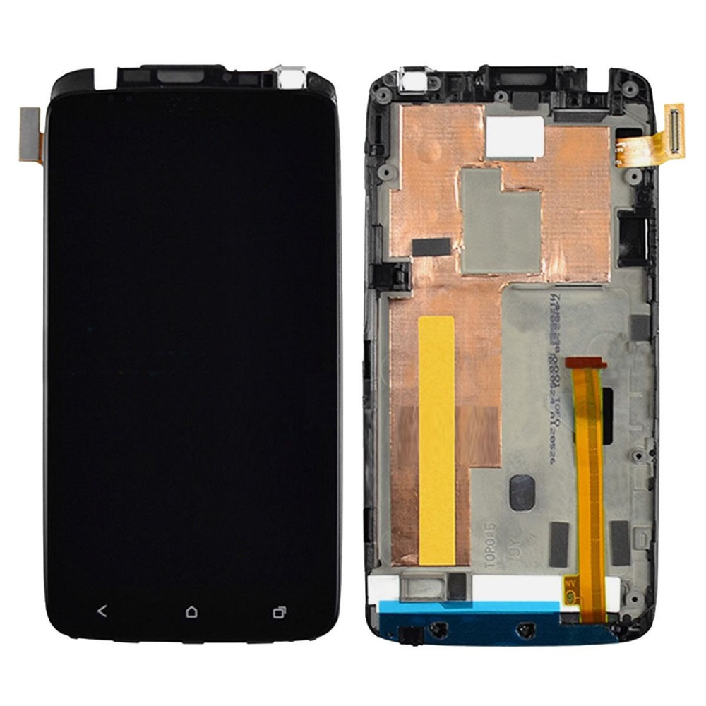 OEM 100% Test LCD Touch Screen Digitizer Assembly + Frame Bezel For HTC One X AT&T Black With Free Tools