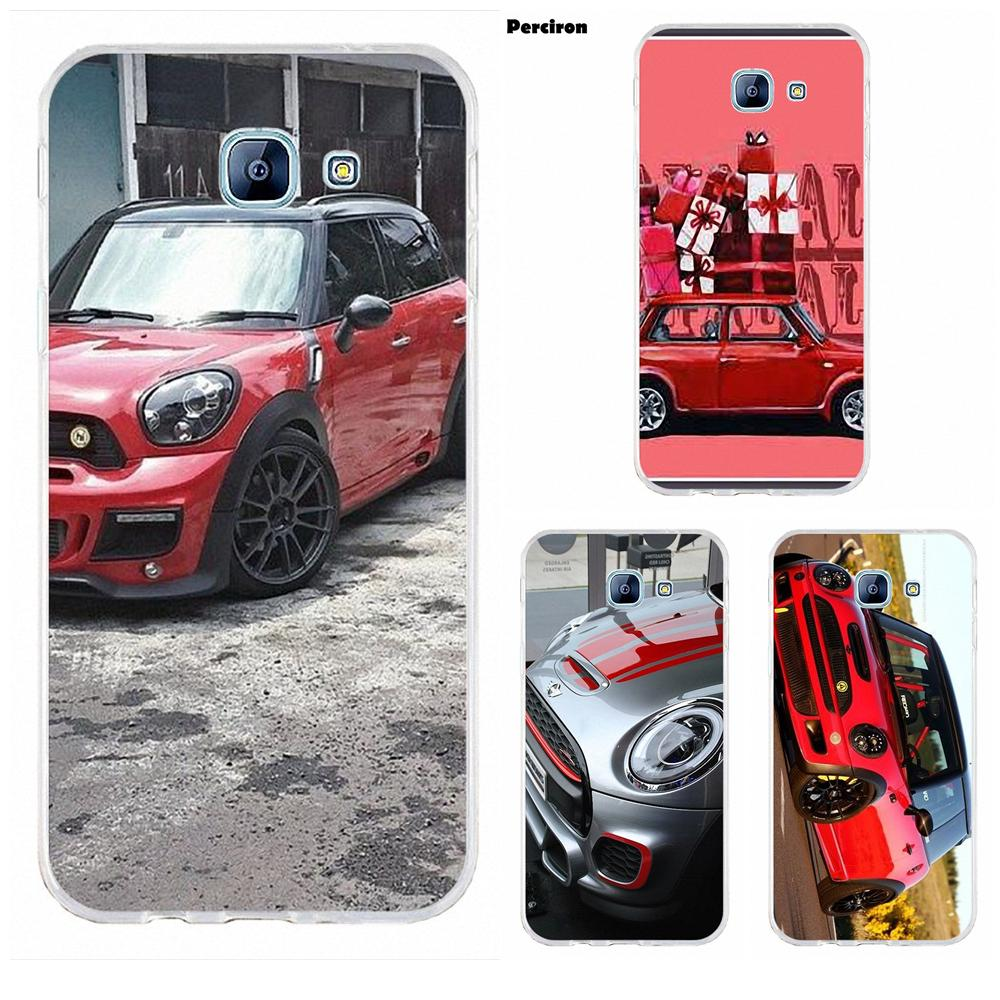 Mini Cooper <font><b>Red</b></font> Car Soft <font><b>Silicone</b></font> TPU Transparent Hipster <font><b>Case</b></font> For <font><b>Samsung</b></font> Galaxy A3 <font><b>A5</b></font> A7 J1 J2 J3 J5 J7 2015 2016 <font><b>2017</b></font> image