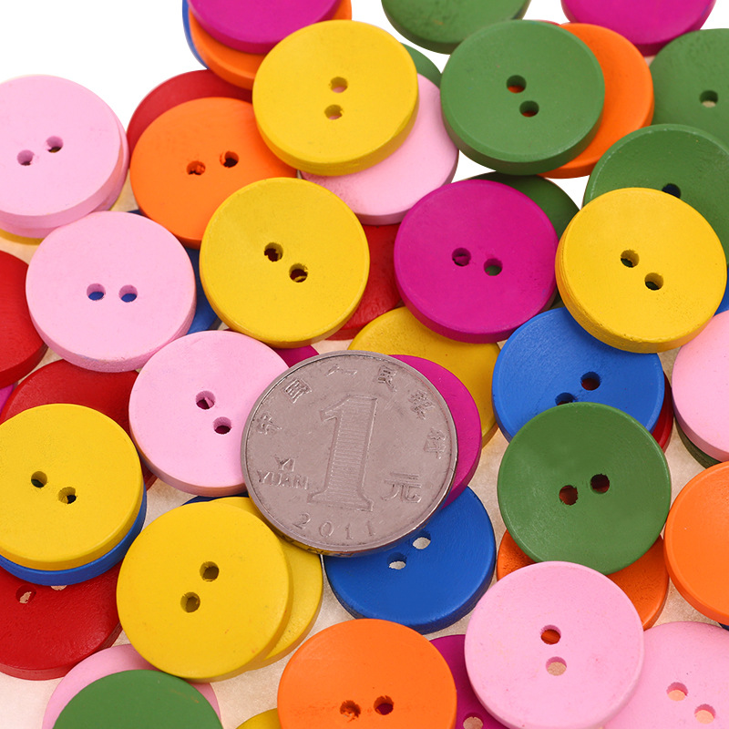 SCRAPBOOKING 40 x PINK//WHITE GINGHAM 2 HOLE WOODEN 15mm BUTTONS CRAFT ETC.,