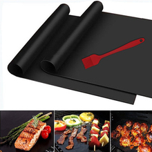 40x33 / 60cm 2 piece set can be reused 0.2mm high temperature barbecue pad bbq black non-stick outdoor Teflon