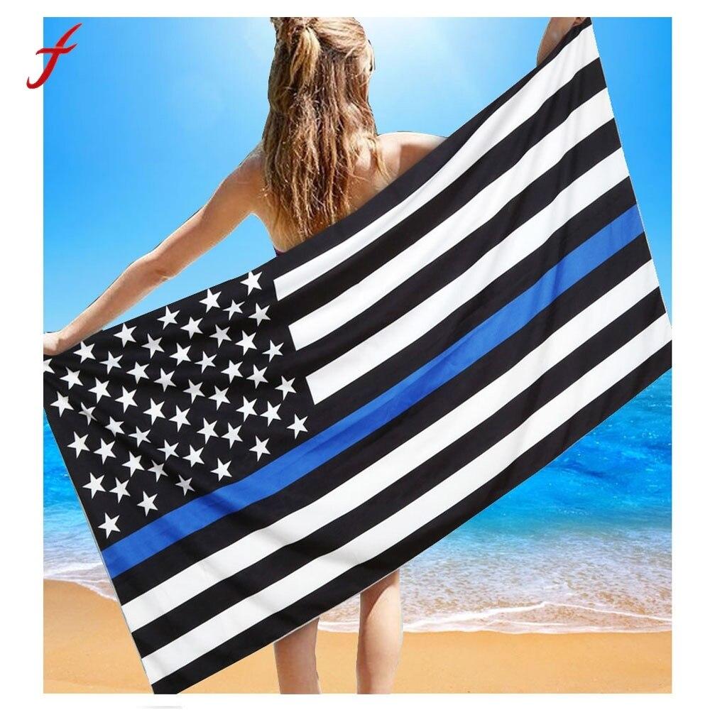Beach Towel 2017 flag Printed Beach Pool Home Shower Towel Blanket Table Cloth Wall Hanging Microfiber Bath Towels For Adults