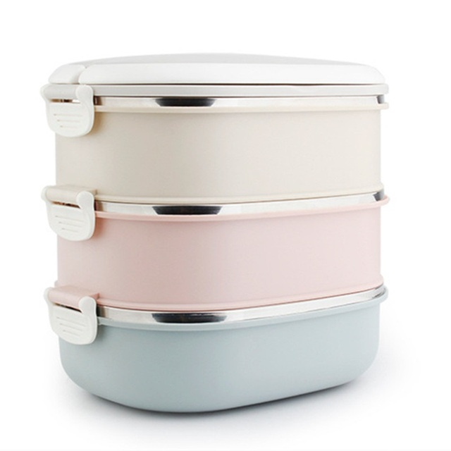 DUOLVQI Thermal Lunch Boxs Bento Box For Food Storage Camping Portable Picnic With Tableware Set Bag Container 3
