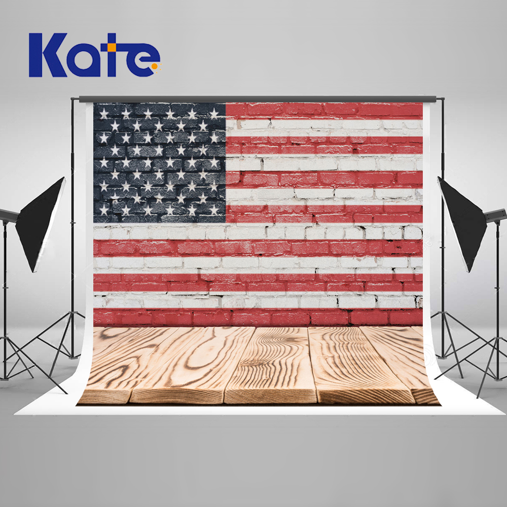 Kate 5X7FT American Flag Wood Wall Photography Backdrops Newborn Backgrounds For Photo Studio Wood Photo Studio Cloth Backdrop 5x7ft white backdrop board photo background photography white studio cloth flower rattan corridor