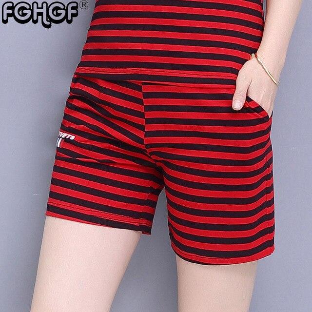 65b2264a83ea40 Szorty damskie lato moda na co dzień Plus rozmiar spodenki bawełniane  kolory krótkie spodnie odzież Sexy gorące kobiety spodenki w paski 2849