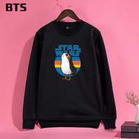 BTS Porg Sweatshirt Women Plus Size Casual Harajuku Streetwear High Quality Fashion Ladies Women Hoodies Sweatshirts