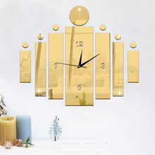 Large Wall Watches 50x60cm Modern Art Creative Quartz Silent DIY Acrylic Mirror Cylinder Wall Clock for Home Decoration