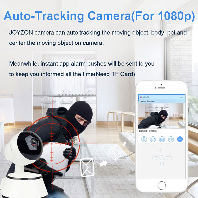 1080P HD Wireless Baby Monitor Camera With Auto Tracking Night Vision Mini Cam 3