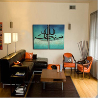 Golden Supplier Wholesale High Quality Calligraphy Painting Handmade Arab Islamic Calligraphy Wall Artwork Decoration On Canvas
