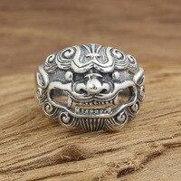 Fabrik großhandel sterling silber schmuck handgemachte Vintage Silber S925 Ring Herren persönlichkeit bereicherung ring tanz