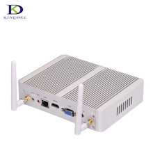 cheapest fanless mini pc 4th Gen CPU dual core i3 4005U nuc HTPC windows 7 mirco nettop computer with HDMI VGA USB3.0  tv box