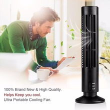 Mini Portable Fan USB Powered Tower Shape PC Laptop Desktop Cooling Fan Bladeless Notebook Air Conditioner Low Noise Dropshiping