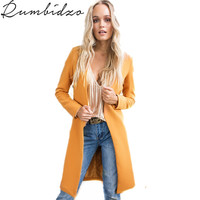 2018 Spring Coats Jackets Women Thick Long Poncho Coats Winter High Quality Casual Orange Outerwear Quilt
