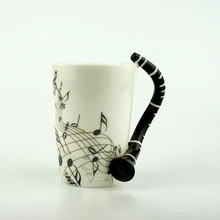 Novelty 220ml Guitar Ceramic Cup Personality Music Note Milk Juice Lemon Mug  Coffee Tea Cup Christmas · 2 Colors Available f430fb702c51