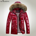 8XL Winter Jacket Men Down Jacket 2016 White Duck Down Thick Coat Hood Natural Pure Fur Collar Plus Size 6XL Windproof Parka
