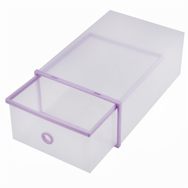 Hot Sale Pink Purple Plastic Shoes Storage Double Storage Box Sundries Organizer Case Shoe Box Drawers  sc 1 st  AliExpress.com & Hot Sale Pink Purple Plastic Shoes Storage Double Storage Box ...
