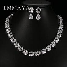 Роскошный Романтичный комплект emmaya свадебные ювелирные комплекты