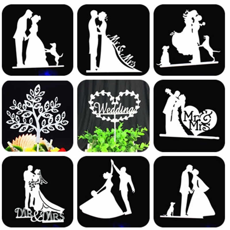 Bride And Groom Cake Topper Weeding Decoration Mr Mrs Wedding Cake Topper Silver Cupcake Topper Party Favors Wedding Cake Topper