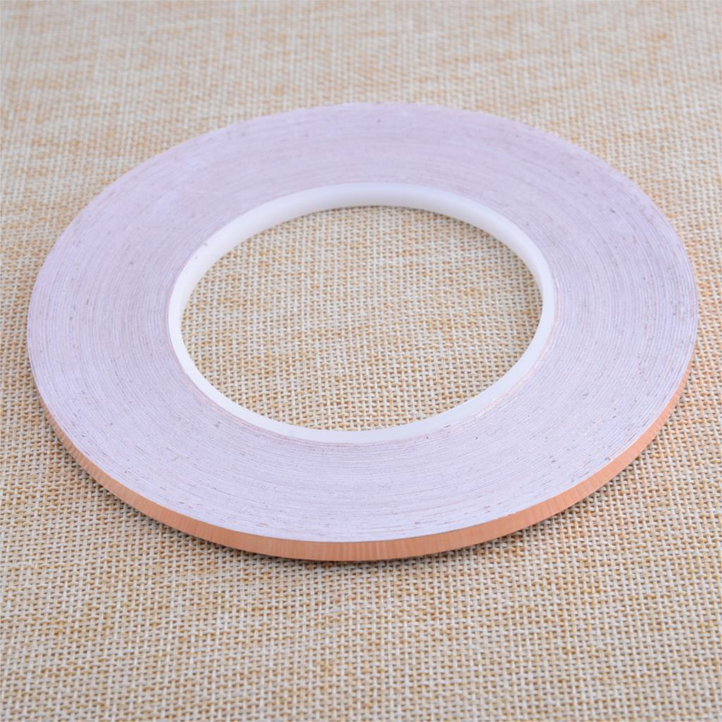 50M 5mm Single Side Conductive Copper Foil Tape Adhesive Shield Heat Resist Computer Peripheral Wire