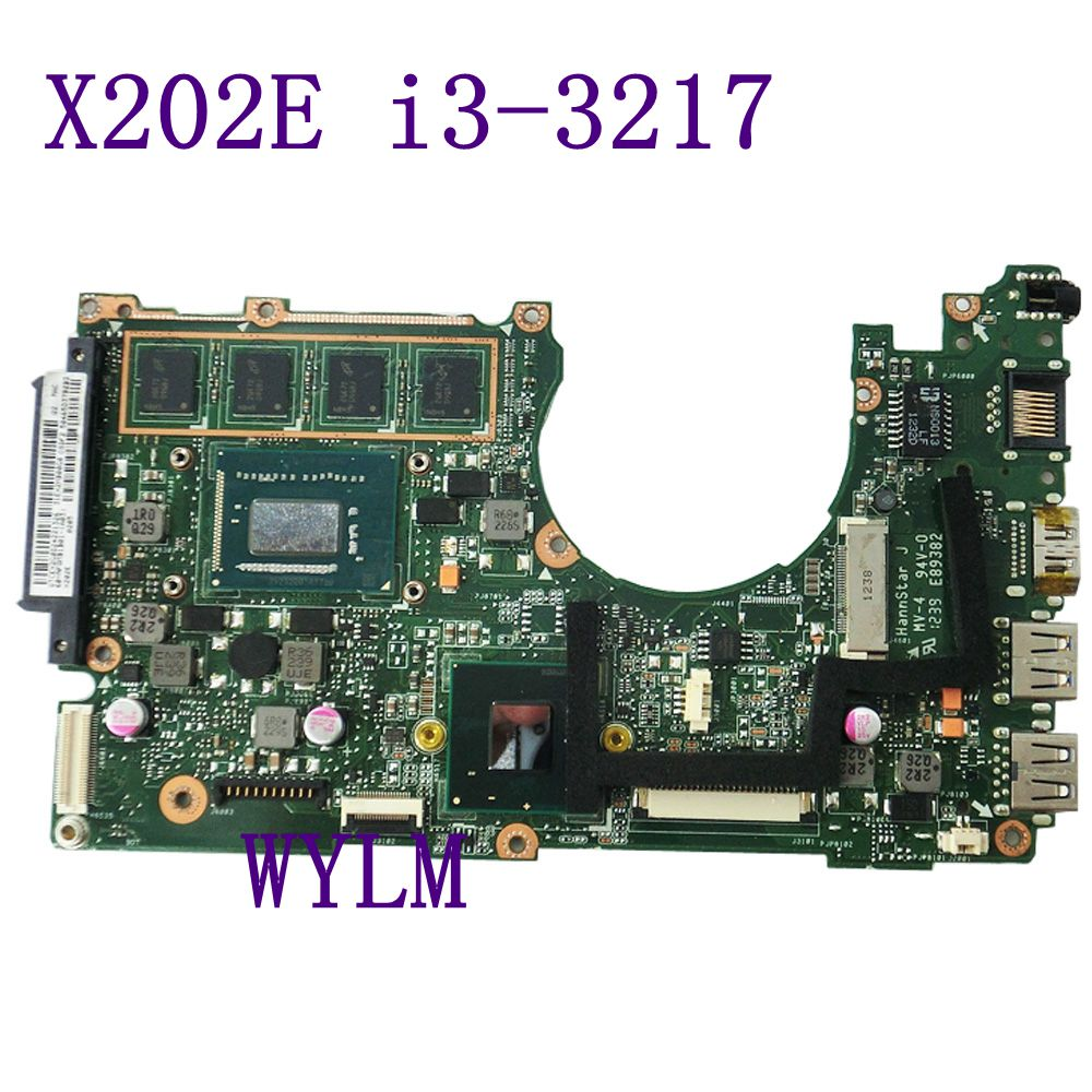 X202E With i3-3217 CPU 4GB memory mainboard For ASUS X202 X202E laptop motherboard 60-NFQMB1B01-A08 Tested Working free shipping цена