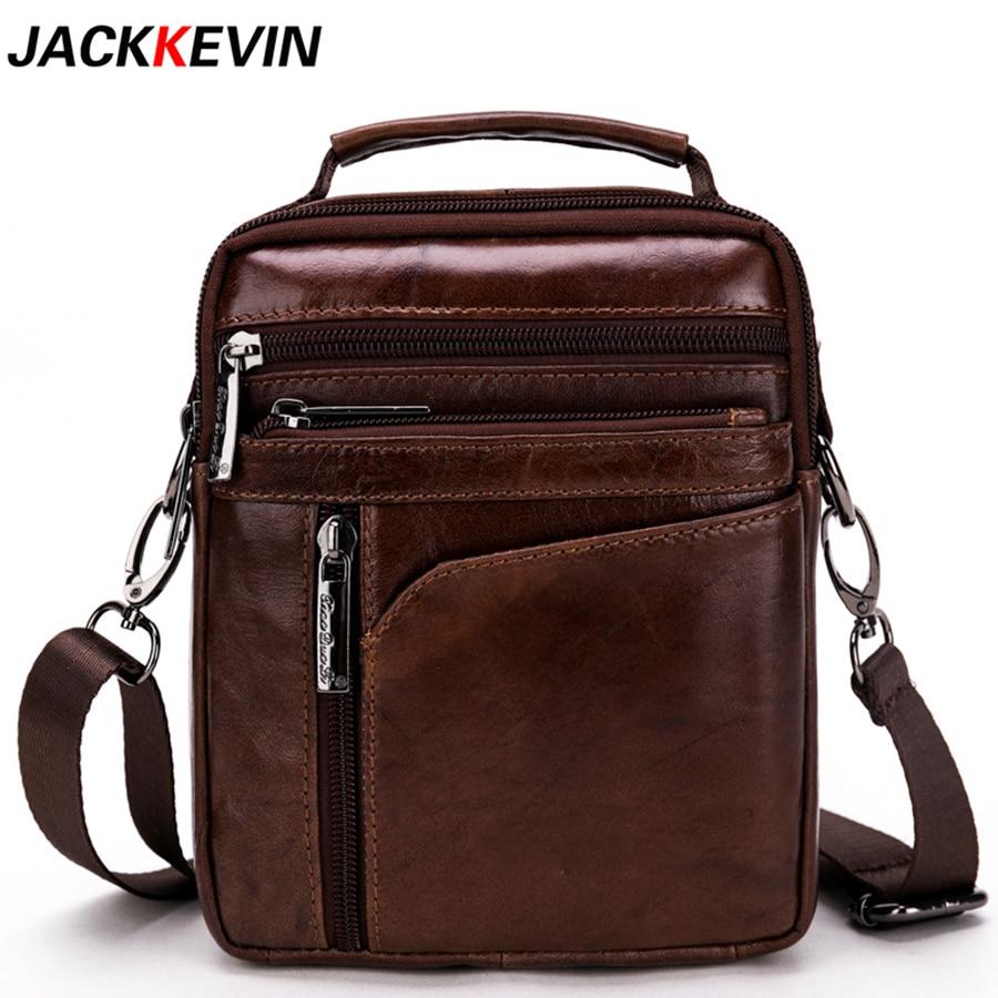 Cow Genuine Leather Messenger Bags Men Travel Business Crossbody Shoulder Bag For Man Handbags Small