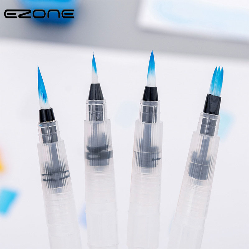 EZONE Paint Brush Refillable Pilot Watercolor Brush Ink Pen Water Brush For Calligraphy Drawing Painting Pen  School Art Supply