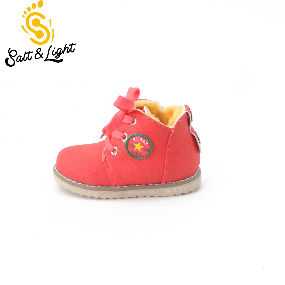 Hot sale children s winter shoes thick keep warm cotton padded kids boots boys girls high