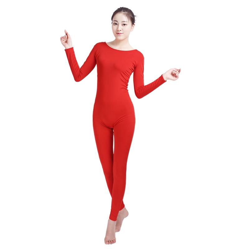 Ensnovo Women Ballet Jumpsuit Long Sleeve Unitard Round Collar Costume  Lycra Nylon Spandex Dancewear Bodysuit Gymnastic UnitardsUSD 18.75 piece 34320a80aa0a