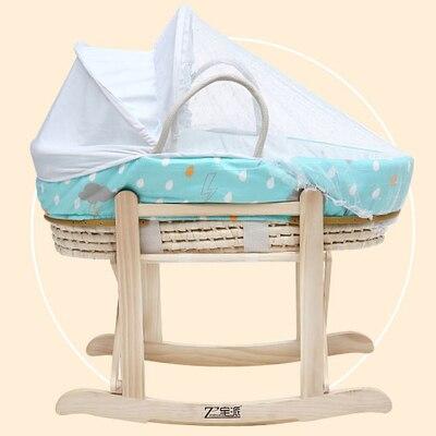 В Новорожденные Колыбель корзина автомобиль переносные детские спальные корзины кукурузный меха ...