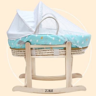 The newborn baby cradle basket car portable baby sleeping basket baskets corn fur pouch baby baskets newborn car seats infant baby carrier seat car baby sleeping basket large space russia free shipping