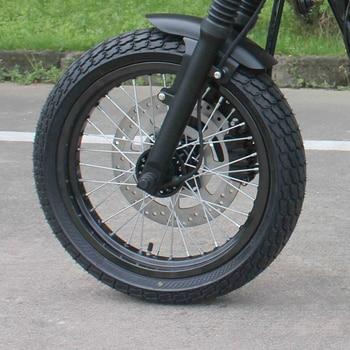 Universale Del Motociclo Retro Parafango Ultra-short Parafango Anteriore Nero Cafe Racer Per GN125 MASH125