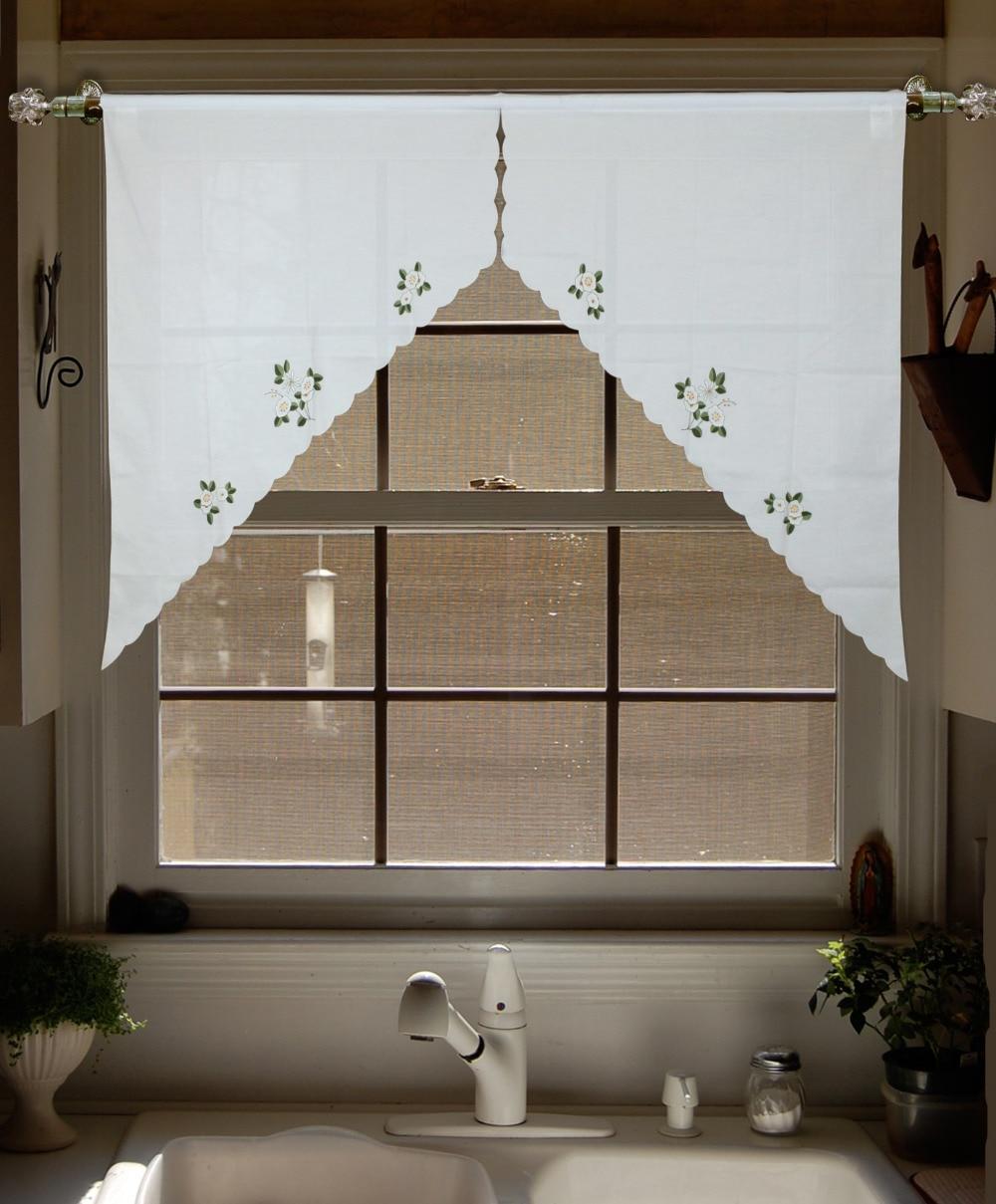 Lu bordado cortinas Cenefa swag y nivel de lujo conjunto Cortina de ...